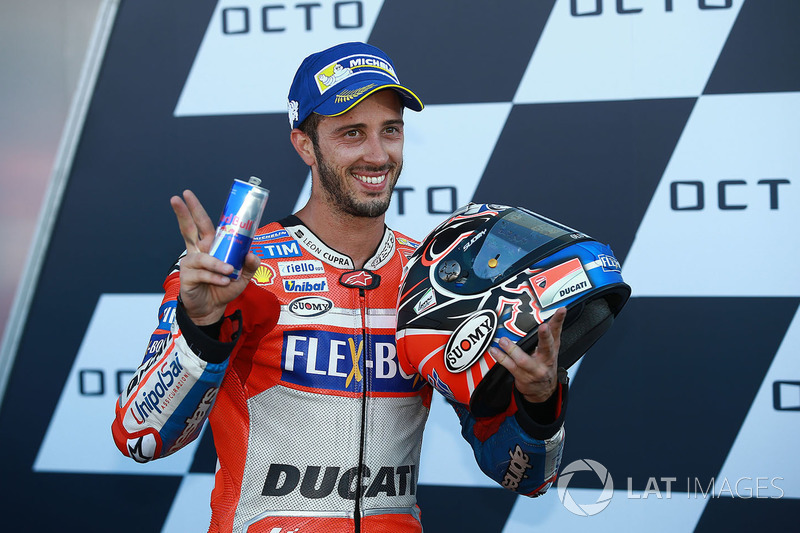 Podio: il vincitore della gara Andrea Dovizioso, Ducati Team