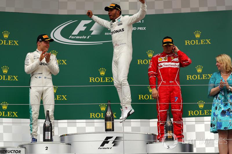 Гран Прі Великої Британії. Льюіс Хемілтон, Валттері Боттас, Mercedes AMG F1, Кімі Райкконен