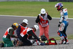 Fabio Quartararo, Pons HP 40 y lesionado Axel Pons, RW Racing GP tras accidente
