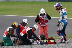 Fabio Quartararo, Pons HP 40 y lesionado Axel Pons, RW Racing GP tras accidente