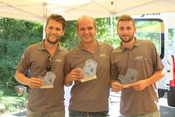 Thierry Kilchenmann, Sandro Fehr, Elio Barbezat, podium