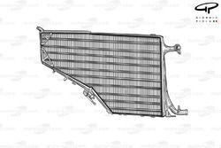 Ferrari F14 T radiator