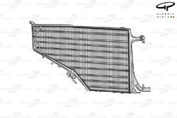 Un radiateur de la Ferrari F14 T