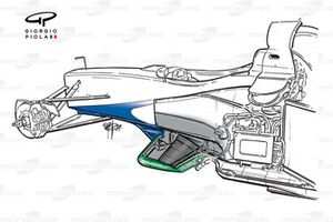 Benetton B199 1999 chassis detail