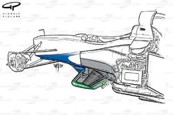 Détails du châssis de la Benetton B199