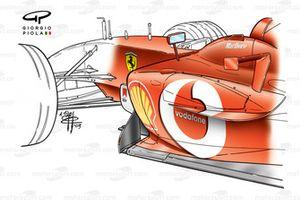 Боковые понтоны Ferrari F2003-GA (654)