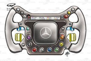 McLaren MP4-17D 2003 steering wheel
