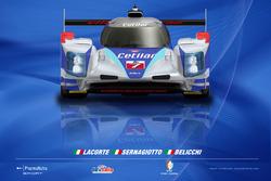 Livrea Dallara LMP2 di Roberto Lacorte, Giorgio Sernagiotto e Andrea Belicchi, Villorba Corse