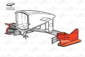 الجناح الأمامي لسيارة فيراري اف399