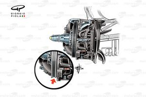 Mercedes F1 W07 front brake (new specification inset, scalloped face)