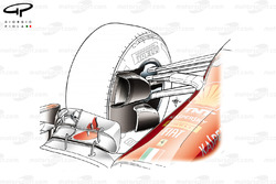Conduit de freinage avant de la Ferrari F14 T