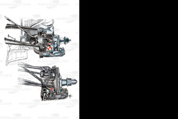 Red Bull RB6 front suspension geometry