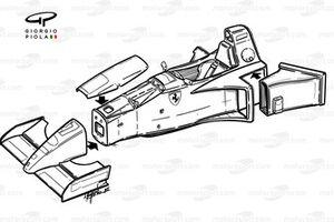 Châssis explosé de la Ferrari 412T2 (647)