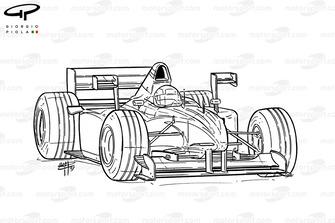 X-wings de la Tyrrell 026