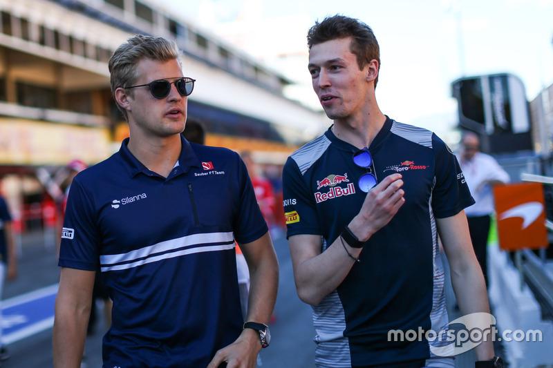 Marcus Ericsson, Sauber and Daniil Kvyat, Scuderia Toro Rosso
