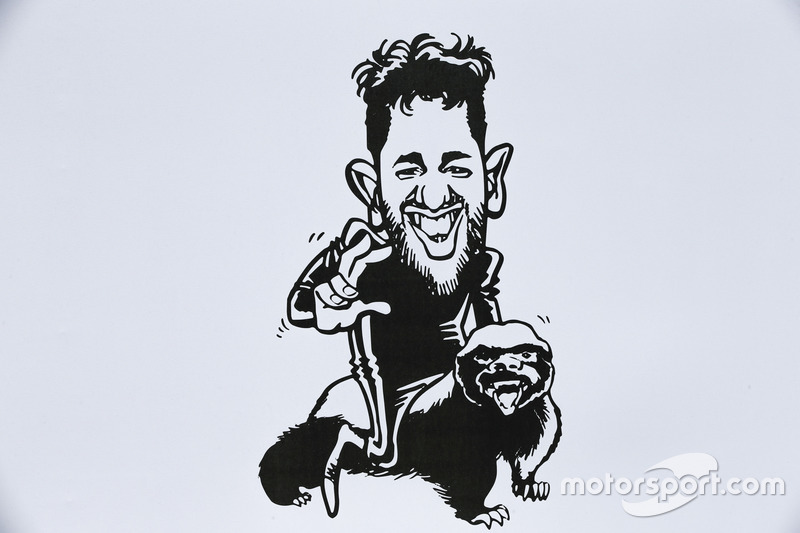 A caricature of Daniel Ricciardo, Red Bull Racing