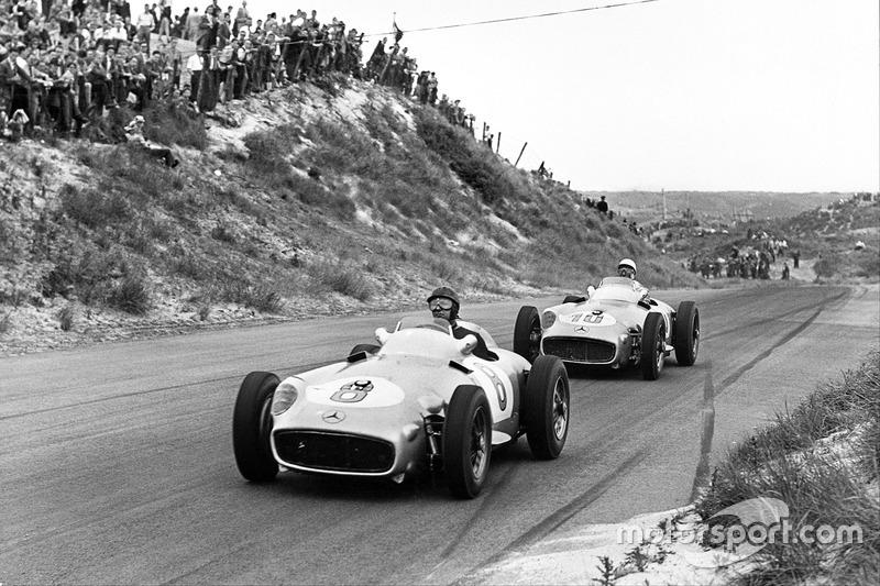 Хуан-Мануэль Фанхио и Стирлинг Мосс, Mercedes-Benz W196, Гран При Голландии 1955 года