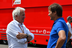Charlie Whiting, FIA Delegate and Michael Schmidt, Journalist