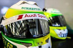 Le casque de Mike Rockenfeller, Audi Sport Team Phoenix, Audi RS 5 DTM