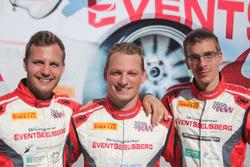 Lukas Eugster, Rolf Reding, Benjamin Devaud, Swiss Race Academy, podio
