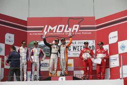 Gara 1 Podio Super GT3: Venturi-Gai, Black Bull Swisse Racing, Beretta-Frassineti, Ombra Racing, Malacucelli-Cheever, Scuderia Baldini 27
