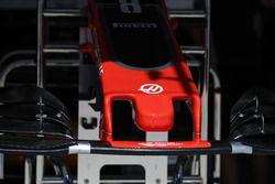 Haas F1 Team VF-17 detalle de la nariz