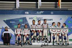 Podium: 1. Anthony Davidson, Sébastien Buemi, Kazuki Nakajima, Toyota Gazoo Racing; 2. Mike Conway,