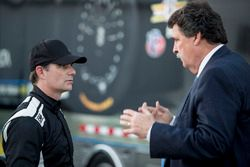 Jeff Gordon, Wayne Taylor Racing met vicevoorzitter NASCAR Mike Helton