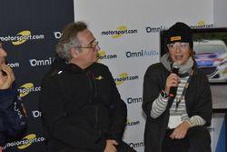 Paolo Andreucci, Franco Nugnes, Direttore Motorsport.com e Anna Andreussi