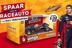 Schaalmodel racewagen Max Verstappen bij actie Jumbo Supermarkten