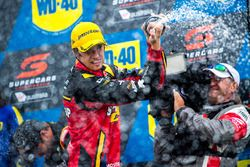 Podium: race winner Chaz Mostert, Rod Nash Racing Ford