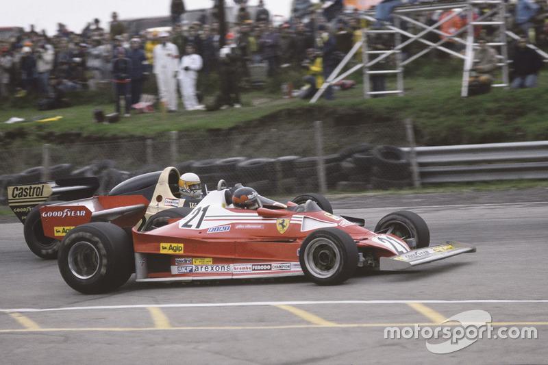 Gilles Villeneuve, Ferrari 312T2 ve Jody Scheckter, Wolf Ford
