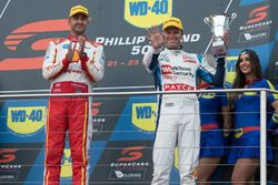 Podium: race winner Fabian Coulthard, Team Penske Ford, third place Garth Tander, Garry Rogers Motor