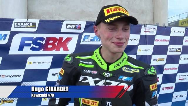 L'interview de Hugo Girardet, vainqueur en Supersport 300 !