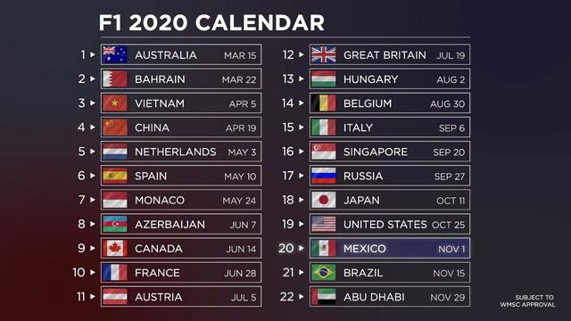 Formula 1 Calendario.Motorsport Com Latinoamerica F1 Motogp Nascar Rally