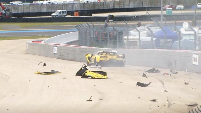 Huge #64 Corvette Racing crash - Le Mans Videos