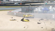 Huge #64 Corvette Racing crash