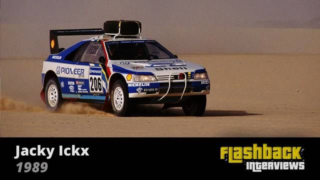 1989 Paris - Dakar Rally, interview with Jacky Ickx