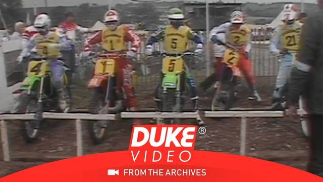 The pre-race mood berfore the British Motocross GP in 1986