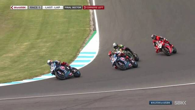WorldSBK: Phillip Island Race 1 finish