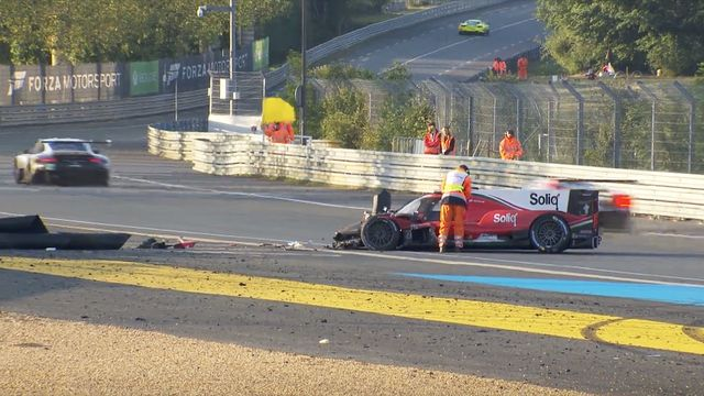 Pastor Maldonado crashes at Tertre Rouge
