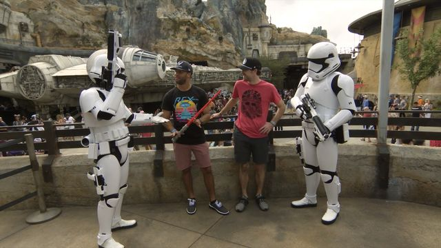 Blaney and Wallace visit Star Wars Galaxy's Edge