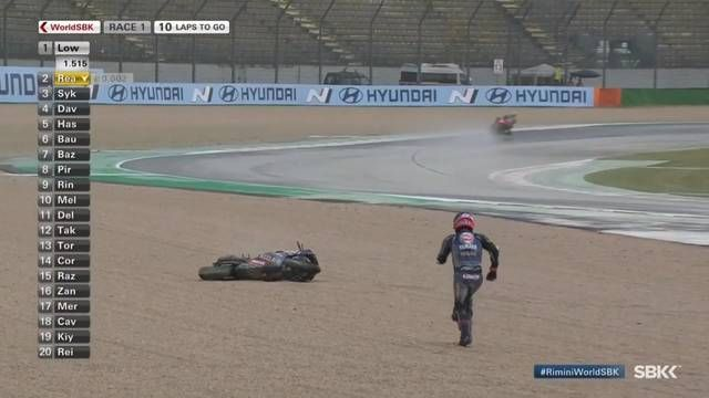 WorldSBK Misano: Alex Lowes crash