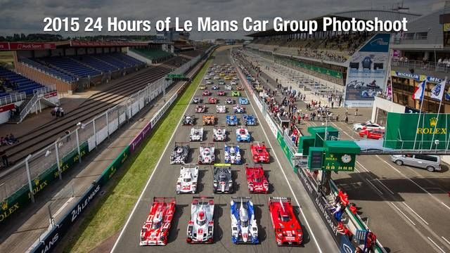 2015 24 Hours of Le Mans Car Group Photoshoot