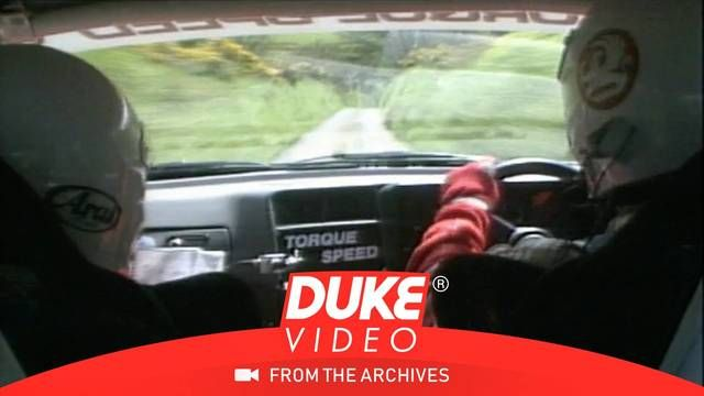 In-car views of Manx Rally