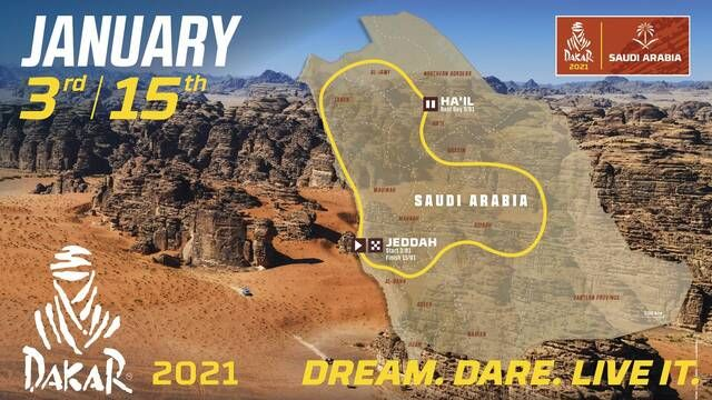 Dakar 2021: Map reveal