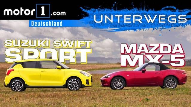 Test: Suzuki Swift Sport vs. Mazda MX-5 2018