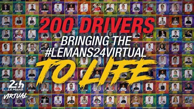 Virtual 24 Hours of Le Mans - 50 teams, 200 drivers