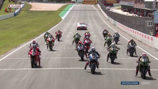 WSBK Phillip Island: Rennen 2. Highlights