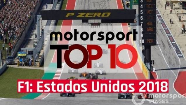 Top 10: GP dos Estados Unidos 2018